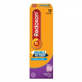 Redoxon Double Action Effervescent Tablets 10s (Blackcurrant) (RSP: RM19.45)