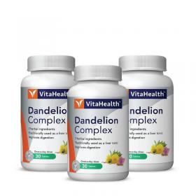 VitaHealth Dandelion Complex Plus 3x30s (RSP: RM85.80)