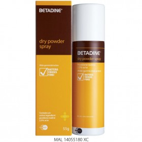Betadine Dry Power Spray 55g (RSP: RM30.25)