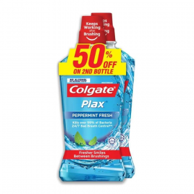 Colgate Plax Peppermint Fresh 2x750ml (RSP: RM36.90)