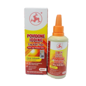3 Legs Povidone Iodine 60ml (RSP: RM6)