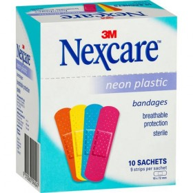 3M Nexcare Neon Plastic Bandages 9s x 10 Packs (RSP: RM20)