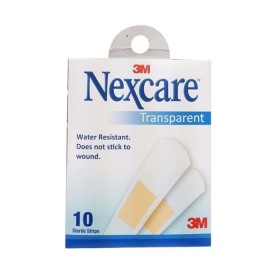 3M Nexcare Transparent Sterile Strips 10s (Water-Resistant) (RSP: RM3.10)
